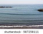 atlantic ocean at tenerife...   Shutterstock . vector #587258111