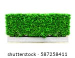 green abstract wall background  ... | Shutterstock . vector #587258411