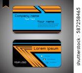 business card modern abstract... | Shutterstock .eps vector #587258465