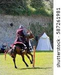 Medieval Horseman. Knight On...