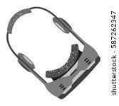 vector illustration of headset... | Shutterstock .eps vector #587262347