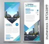 business roll up. standee... | Shutterstock .eps vector #587262899