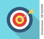 target with an arrow flat icon... | Shutterstock .eps vector #587265005