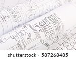 science  technology and... | Shutterstock . vector #587268485