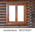 A Wooden Window In A Wall Made...
