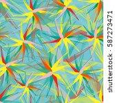 vivid multicolored seamless... | Shutterstock .eps vector #587273471