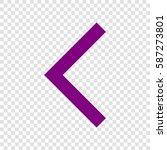 left arrow icon. vector. purple ...
