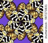 seamless classic golden pattern.... | Shutterstock .eps vector #587273831