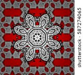 vintage baroque floral seamless ... | Shutterstock .eps vector #587274065