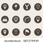 map icons. | Shutterstock .eps vector #587279939