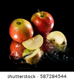 apple in water | Shutterstock . vector #587284544