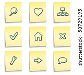 Basic Web Icons  Yellow Notes...