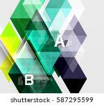 transparent triangle tiles... | Shutterstock .eps vector #587295599
