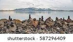 reykjavik coastline   Shutterstock . vector #587296409