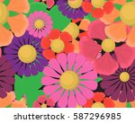vector seamless pattern with... | Shutterstock .eps vector #587296985
