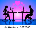 silhouette illustration of a... | Shutterstock .eps vector #58729801
