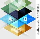 transparent triangle tiles... | Shutterstock .eps vector #587300045