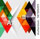 transparent triangle tiles... | Shutterstock .eps vector #587300495