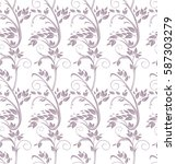 seamless pattern curl twigs... | Shutterstock .eps vector #587303279