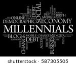 millennials word cloud social... | Shutterstock . vector #587305505