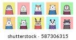 funny animal  penguin  goose ...   Shutterstock .eps vector #587306315
