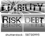 wipe liability and risk | Shutterstock .eps vector #58730995