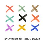 the crosses with different... | Shutterstock . vector #587310335