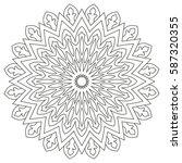 circular geometric ornament.... | Shutterstock .eps vector #587320355