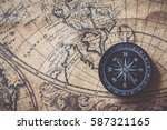 compass on old map | Shutterstock . vector #587321165