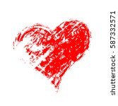 vector grunge heart  valentine... | Shutterstock .eps vector #587332571