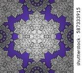 elegant vector classic pattern. ... | Shutterstock .eps vector #587333915