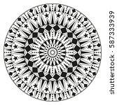 round ethnic ornament mandala.... | Shutterstock .eps vector #587333939