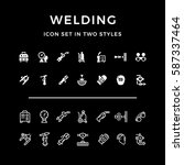 set icons of welding | Shutterstock .eps vector #587337464