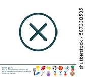 delete sign  icon. remove... | Shutterstock .eps vector #587338535