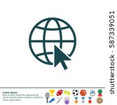 globe  go to web  icon. vector... | Shutterstock .eps vector #587339051