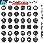 medical circle white black... | Shutterstock . vector #587341475