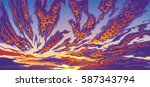 hand drawn background with... | Shutterstock .eps vector #587343794