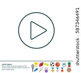 play line icon | Shutterstock .eps vector #587346491