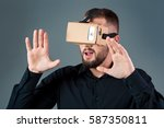 man using a new virtual reality ...