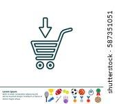 shopping cart  basket  line icon