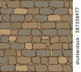 brick wall seamless pattern.... | Shutterstock .eps vector #587358977