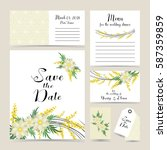 wedding invitation decorated... | Shutterstock .eps vector #587359859