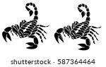 Scorpion Tribal Tattoo Vector...