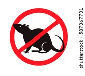 no rats symbol sign | Shutterstock .eps vector #587367731