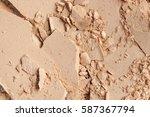 broken and messy facial compact ... | Shutterstock . vector #587367794