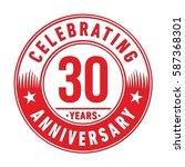 30 years anniversary logo... | Shutterstock .eps vector #587368301
