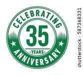 35 years anniversary logo... | Shutterstock .eps vector #587368331
