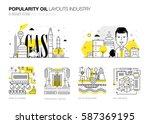oil popularity modern layouts... | Shutterstock .eps vector #587369195