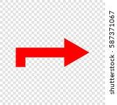 right arrow icon. vector. red...