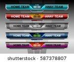 scoreboard broadcast graphic... | Shutterstock .eps vector #587378807